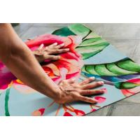 Buy cheap China qualtiy sweat absorbing colorful anti-slip suede rubber yoga mat sports mat for fitness from wholesalers