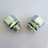 Buy cheap LIQUID TIGHT IP68 WHITE ZINC GALVANIZED STEEL 45 CONNECTOR from wholesalers
