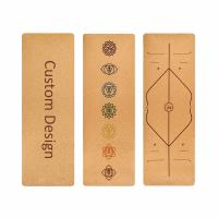 Buy cheap Eco-friendly non-slip natural cork rubber yoga mat from wholesalers