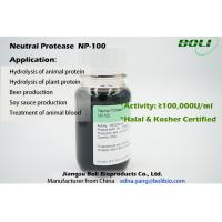 China NON-GMO Liquid Neutral Protease NP-100 Food Use Catalyzes Protein Hydrolysis in Neutral Environment on sale