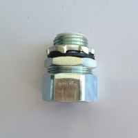 Buy cheap LIQUID TIGHT IP68 WHITE ZINC GALVANIZED STEEL 45 CONNECTOR product