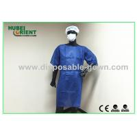 Buy cheap Dark Blue Disposable Isolation Gowns / Disposable Dress In Hospital from wholesalers
