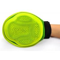 Buy cheap Durable 2 In 1 Cat Brush Glove Silicone Green Pets Bathing Custom Color Massage Shower from wholesalers