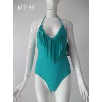 Buy cheap Discount plain swimwear for women,Green, swimsuit, warp knitting swimsuit, bare back swims from wholesalers