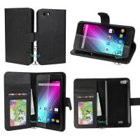 Buy cheap Leather Wallet Book Cover with Stand Feature and Credit Card ID Holders for Wiko Lenny from wholesalers