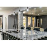 "Natural Marble Polished Premade Kitchen Countertops 96""X26"" With Cabinet"