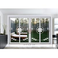 Buy cheap 5mm Commercial Aluminium Sliding Door Exterior Clear Tempered Art Glass from wholesalers
