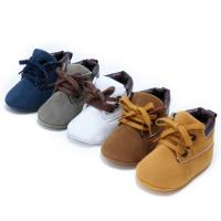 Buy cheap Wholesale Faux suede Soft sole 0-18 months boy ankle baby booties from wholesalers