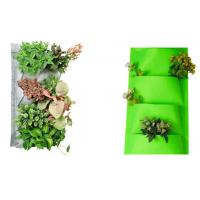 Buy cheap Lightweight Colorful Flower Vertical Garden Pots  27 X 54cm Pocket Size from wholesalers
