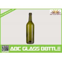 Buy cheap 750ml wine glass bottles round shape from wholesalers