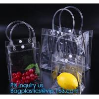 Buy cheap Summer beach clear PVC shoulder bag/transparent tote bag, Jelly PVC Material Candy Color Beach Transparent Women Shoulde from wholesalers
