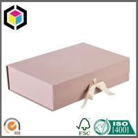 Buy cheap Folding Magnetic Closure Gift Box; Pink Color Print Magnetic Paper Box from wholesalers