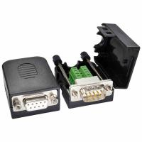 Buy cheap DB9 D Sub 9 Pin RS232 Serial Port Connectors to Terminal Blocks Adapter with housing from wholesalers