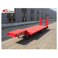 Buy cheap Easy Operate Extendable Drop Deck Trailer, Extendable Lowboy Trailer With Fixed Landing Leg from wholesalers