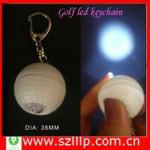 Buy cheap Supply plastic golf ball flashlight Keychain Gift with oem logo  product