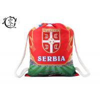 Buy cheap Serbia Country Team Custom Printed Cinch Bags , Recyclable Digital Printed String Gym Bag from wholesalers