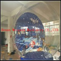 Buy cheap 4M inflatable transparent snow globe for exhibition/Inflatable Christmas Snow Globe from wholesalers