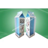 Buy cheap Foldable Walmart POP Cardboard Floor Display Stands With Hooks For Milk Products from wholesalers