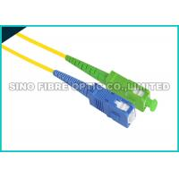 Buy cheap ST - ST Fiber Optic Patch Cables , Aqua PVC Sheath Fiber Jumper Cables from wholesalers