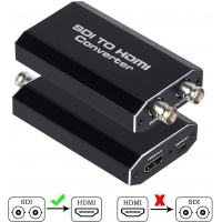 Buy cheap RG-59 Cable 24V F970 D28S Battery 100M SDI To HDMI Audio Video Converter from wholesalers
