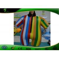 Buy cheap Inflatable Rainbow Colored Clothes , 1.4m Tall Inflatable Colorful Suit For Party from wholesalers