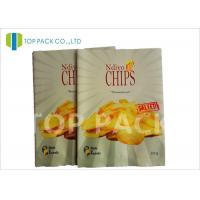 Buy cheap Matte Surface Laminated Foil Pouches Back Seal Potato Chips Packaging product
