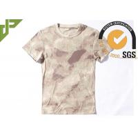 Buy cheap Tactical Cool Army T Shirts 100% Cotton , Short Sleeve Combat Shirt Quick Dry from wholesalers