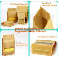 Buy cheap stand up pouch biodegradable zipper bag kraft paper bag, Resealable Snack Stand up Zipper kraft paper Pouch Aluminum from wholesalers