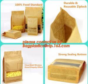 Buy cheap stand up pouch biodegradable zipper bag kraft paper bag, Resealable Snack Stand up Zipper kraft paper Pouch Aluminum product