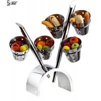 Buy cheap Hotel / Restaurant Stainless Steel 3 Tier Cake Stand Vintage Customized from wholesalers