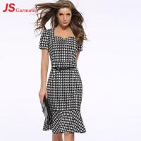Buy cheap 20713 Houndstooth Fishtail Gown Summer Party Fashionable Dress For Fat Women from wholesalers
