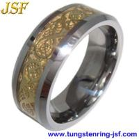 Buy cheap 2012 Golden Tungsten Wedding Rings Foil Inlaid Tungsten Ring from wholesalers