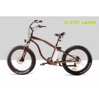 Buy cheap 28km / h 350 Watt Electric Beach Bike 36V 10Ah Lithium Battery Pedals Assisted from wholesalers
