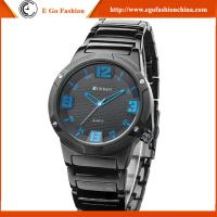 Buy cheap Fashion Business Watches 12 3 6 9 Red Blue Day&Date Display Watches Man Quartz Watches Men from wholesalers