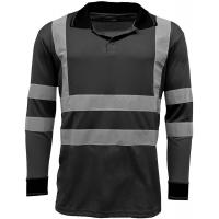 Buy cheap Reflective Strips Mens Hi Viz T Shirts Workwear , Dry Fit 2 Tone Guys Polo Shirts from wholesalers