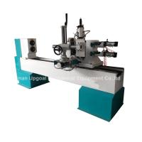 Buy cheap Turning Broaching Engraving Wood Lathe Machine with Double Axis Double Blade product