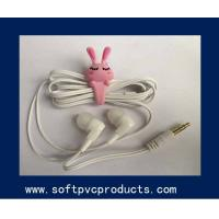 Buy cheap Lovely Rabbit Soft PVC Earphone Ornaments / Silicone Earphone Cable Winders from wholesalers