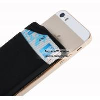 Buy cheap NEW mini pocket wallet sticky 3M Lycra Smart Wallet with factory price,Size 88*57*3MM black color from wholesalers