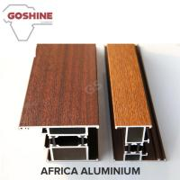 Buy cheap Rich Decoration Wood Finish Aluminium Profiles Colorful Luster 2500T Extrusion product