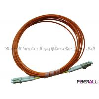 Buy cheap Multimode Duplex Fiber Optic Jumper With Orange Fiber Optic Cable And LC Connector from wholesalers