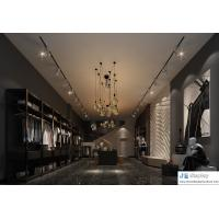 Buy cheap Formal clothing shop in excellent interior design by drak wood in-wall wardrobe and cultural reading bookcase from wholesalers