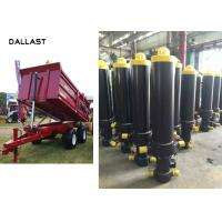 Buy cheap Welded Dump Truck Tipper Trailer Single Acting Telescopic Hydraulic Cylinders CE Marked from wholesalers