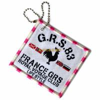 Buy cheap Square Woven Clothing Patches With Hang Chain Custom Logo Printable from wholesalers