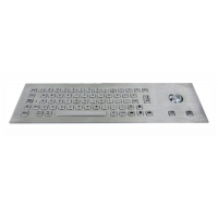 Buy cheap Front Mouting IP65 Waterproof Metal Stainless Steel Keyboard with Mouse Trackball from wholesalers