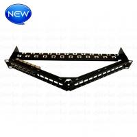 Buy cheap High Quality FTP Cat.6A 6X4 6jacks in one Patch panel angled with back bar from wholesalers