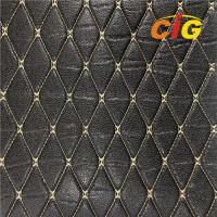 Buy cheap Embroidery Quilted Stitching PU PVC Synthetic Leather Fabric For Car Seat product