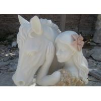 Buy cheap Multi-color marble sculpture with 2 feet height, First grade white Jade marble sculpture from wholesalers