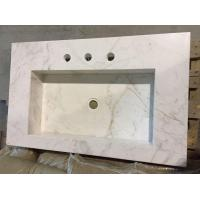 Buy cheap Pure White Artificial Quartz Stone Bathroom Washing Basin China manufacture Quartz wash basin from wholesalers