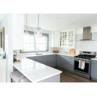 Pure White Long Stone Kitchen Worktops / Natural Quartz Countertops