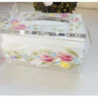 Buy cheap Acrylic Tissue Box , Acrylic napkin case with beautiful silk printing product